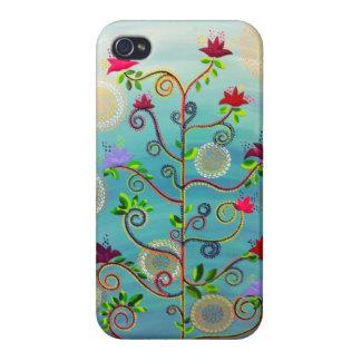 Árbol en caso del iPhone 4 de la floración por C iPhone 4/4S Funda