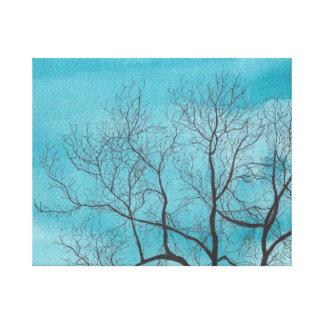 Árbol en invierno impresiones en lona