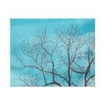 Árbol en invierno impresiones en lona estiradas