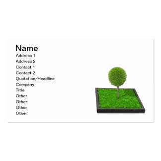 Árbol en jardín aumentado tarjetas de visita