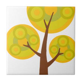 árbol en la caída azulejo cuadrado pequeño