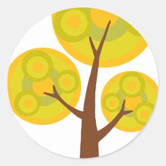 árbol en la caída pegatinas redondas