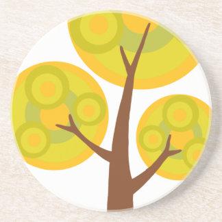 árbol en la caída posavasos de arenisca
