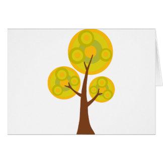 árbol en la caída tarjeta de felicitación