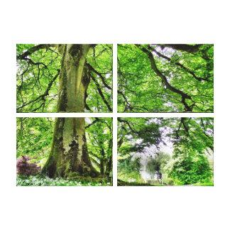Árbol en la impresión del arte de la lona de Bosqu Impresión En Lona Estirada