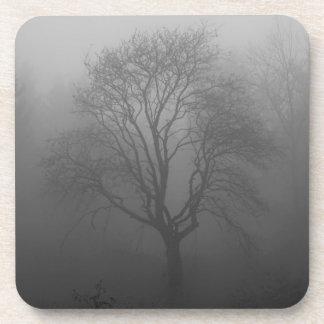 Árbol en la niebla posavaso