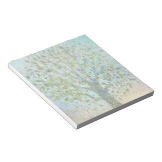 Árbol en libreta del otoño blocs de papel
