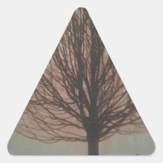 Árbol en productos de la caída pegatina triangular