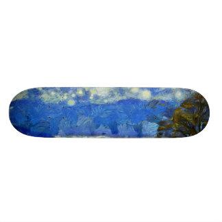 Árbol en un lado de claro patinetas personalizadas