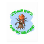 árbol enojado postal