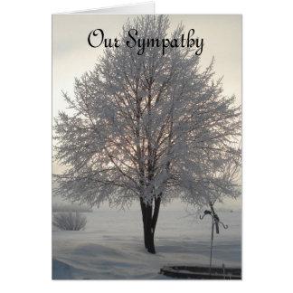 Árbol escarchado series1 de la condolencia tarjeta de felicitación