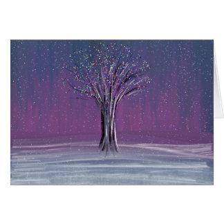 Árbol escarchado tarjeta de felicitación