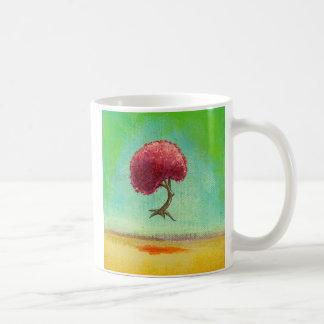 Árbol esperanzado del arte de la pintura moderna taza clásica