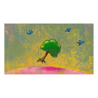 Árbol esperanzado del vuelo del arte de la diversi plantillas de tarjetas personales