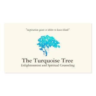 Árbol espiritual de la turquesa del consejero del tarjetas de visita
