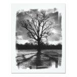 Árbol estéril de las ramas invitación personalizada