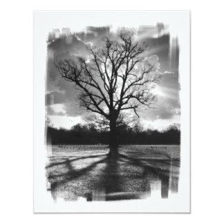 """Árbol estéril de las ramas invitación 4.25"""" x 5.5"""""""