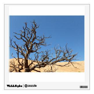 Árbol estéril en desierto