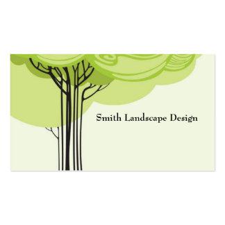 Árbol estilizado tarjeta personal