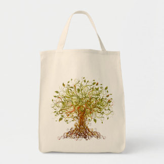 Árbol - extracto 3 bolsa tela para la compra