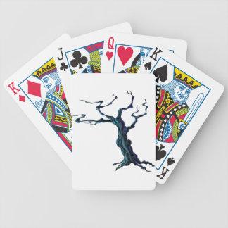 Árbol fantasmagórico de Halloween Baraja Cartas De Poker