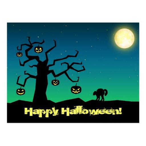 Árbol fantasmagórico de la calabaza de Halloween -