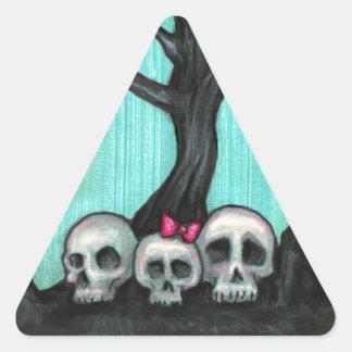 Árbol fantasmagórico del cráneo calcomania trianguloada