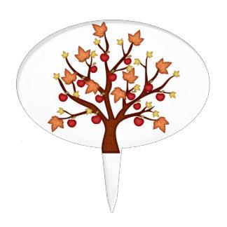 Árbol feliz de la caída figura para tarta