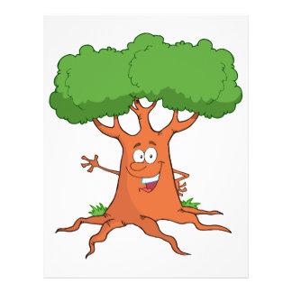 """árbol feliz del dibujo animado folleto 8.5"""" x 11"""""""