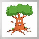 árbol feliz del dibujo animado impresiones