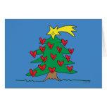 Árbol feliz (espacio en blanco dentro) tarjeta