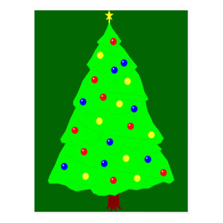Árbol festivo de Yule Tarjetas Postales