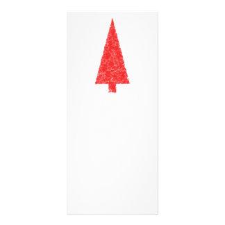 Árbol festivo rojo. Rojo y blanco. La Navidad Tarjetas Publicitarias