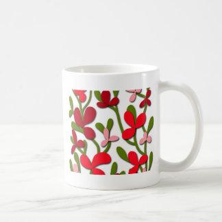 Árbol floral taza de café