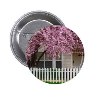 Árbol floreciente en los suburbios pins