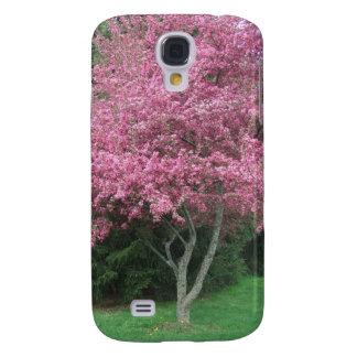 Árbol floreciente rosado de Robinsons Crabapple Funda Para Samsung Galaxy S4