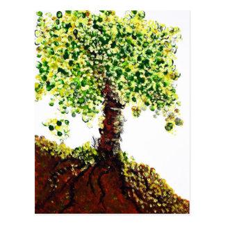 Árbol floreciente postal
