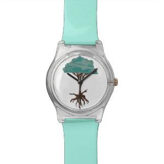 Árbol flotante reloj de mano