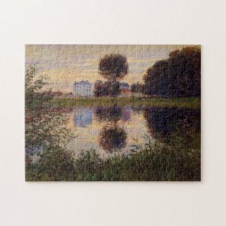 Árbol formado bola, bella arte de Argenteuil Monet Rompecabezas