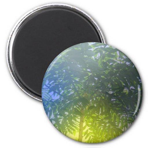 Árbol formado paraguas imán para frigorífico