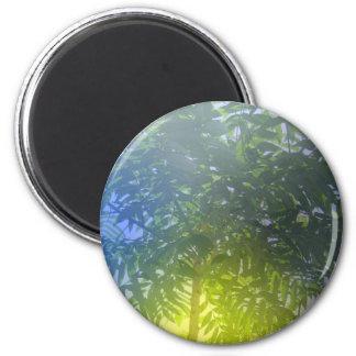 Árbol formado paraguas imán redondo 5 cm