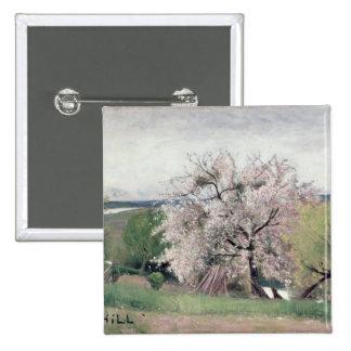 Árbol frutal en el flor, Bois-le-ROI Pin Cuadrado