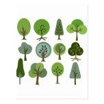 Árbol fuerte postal