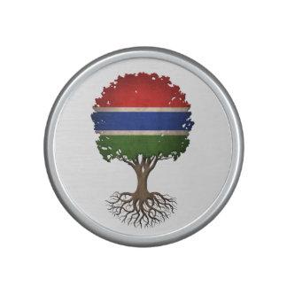 Árbol gambiano de la bandera del personalizable de altavoz