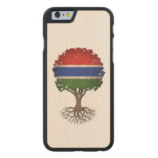 Árbol gambiano de la bandera del personalizable de funda de iPhone 6 carved® slim de arce