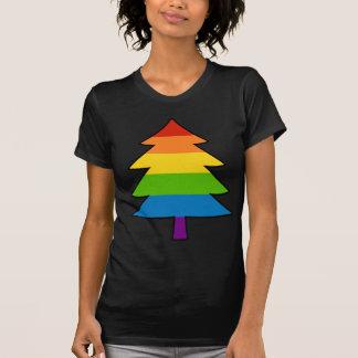 Árbol gay de Navidad del arco iris Playera