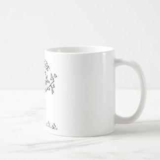 Árbol geométrico abstracto del invierno tazas de café