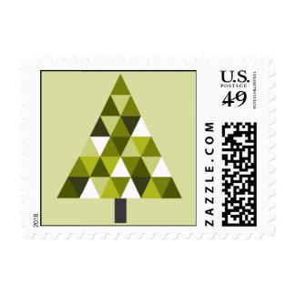 Árbol geométrico - verde estampillas