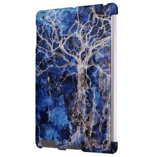 Árbol gitano azul del caso del iPad de la vida