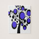 Árbol gótico en púrpura puzzle
